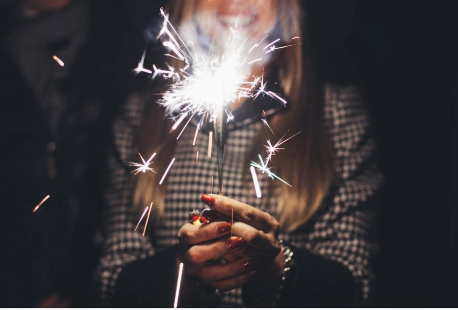 sparkler-in-hand